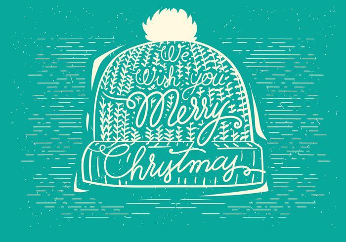Ilustración libre del sombrero del vector de la Navidad