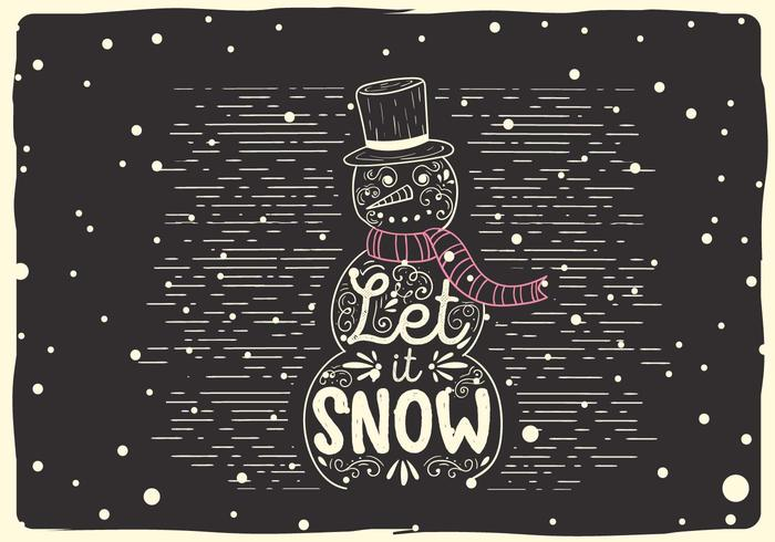 Free Christmas Vector Snowman Illustration