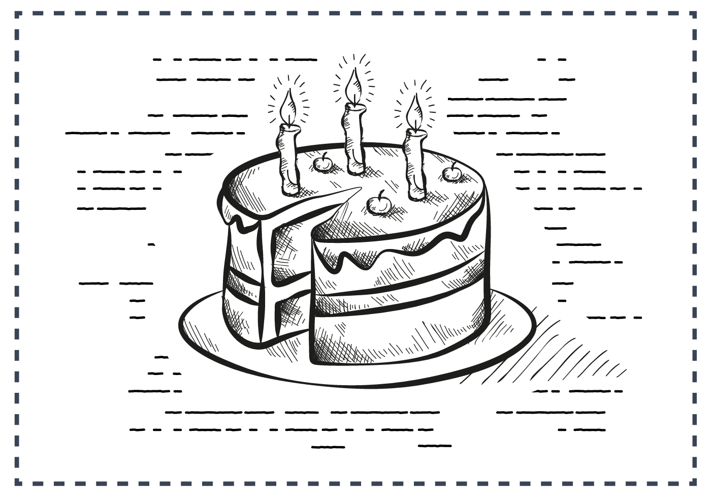 Remarkable Free Vintage Hand Drawn Birthday Cake Background Download Free Birthday Cards Printable Trancafe Filternl