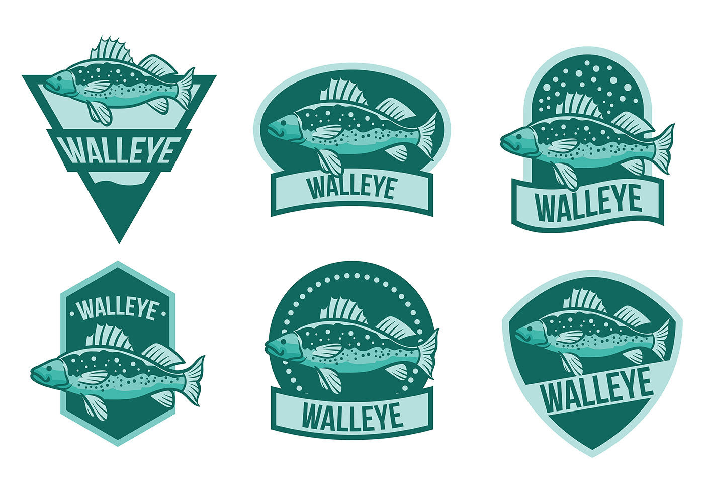 Free Walleye Icons Vector Download Free Vectors Clipart