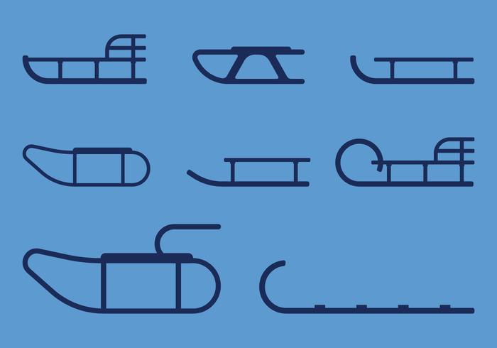 Icônes de traîneaux