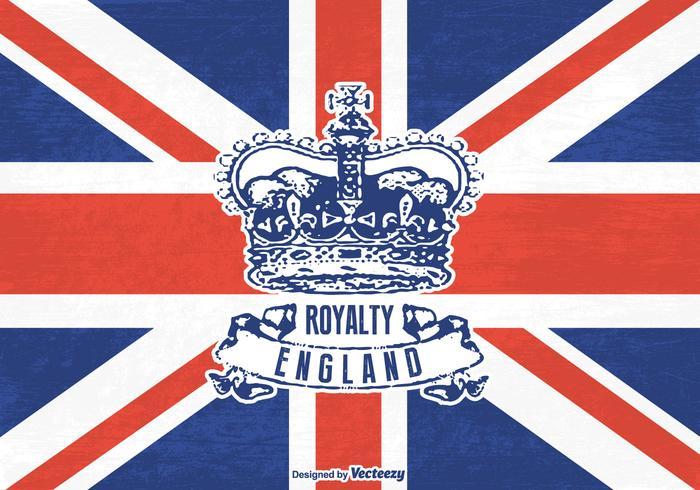 Livre grunge britânico coroa vetor