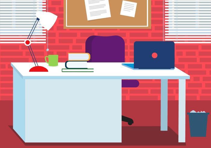 Free Work Vector Desk