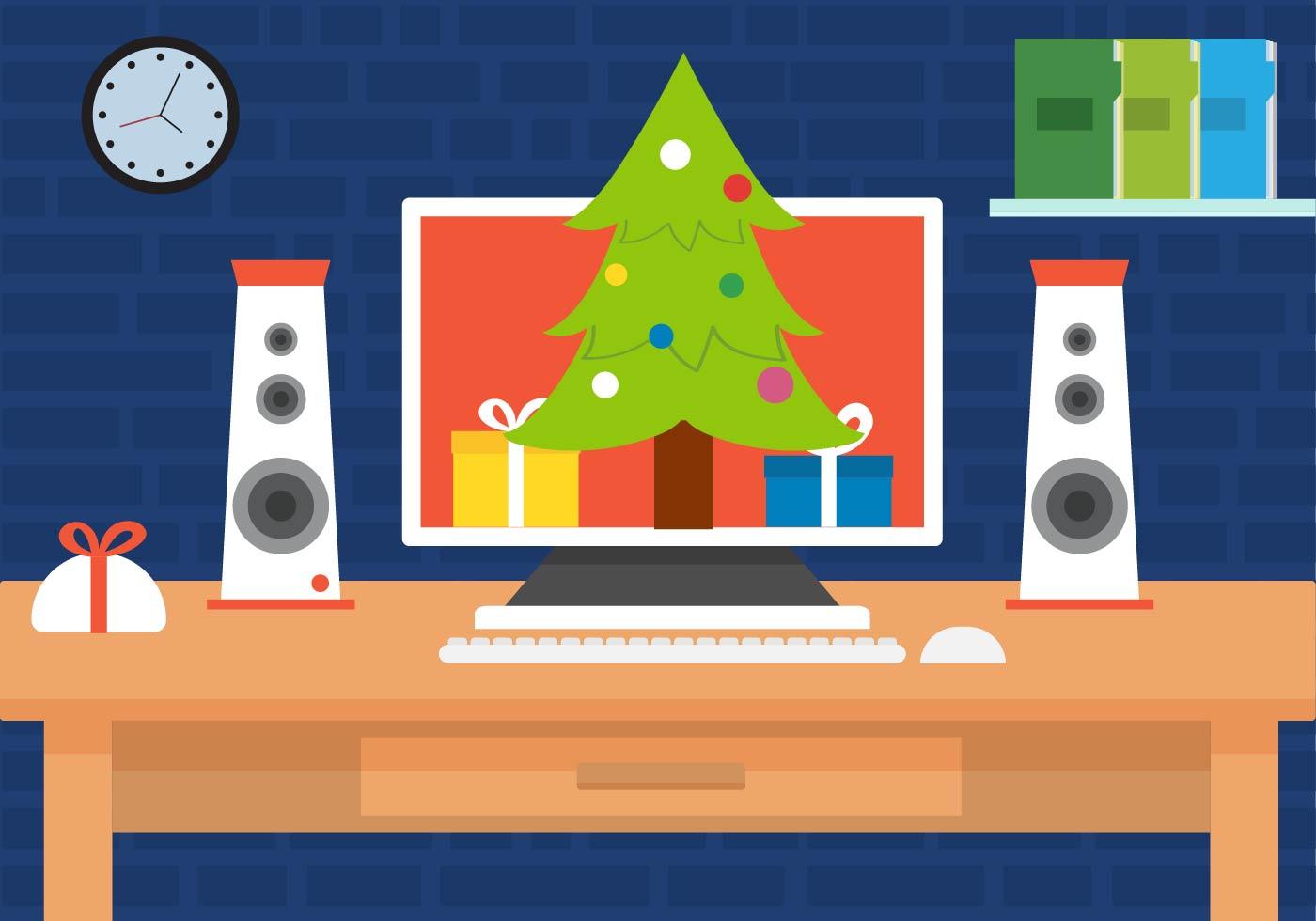 Free Christmas Vector Desk Download Free Vector Art