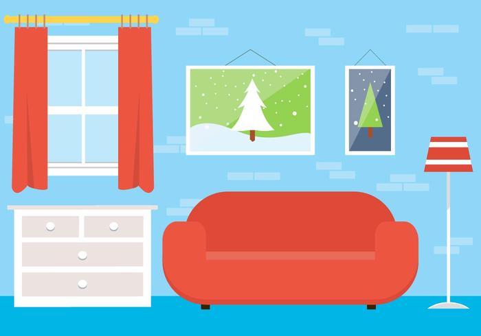 Lounge de vetores de Natal grátis