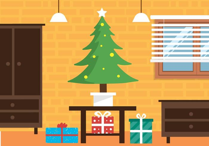 Free Christmas Vector Interior