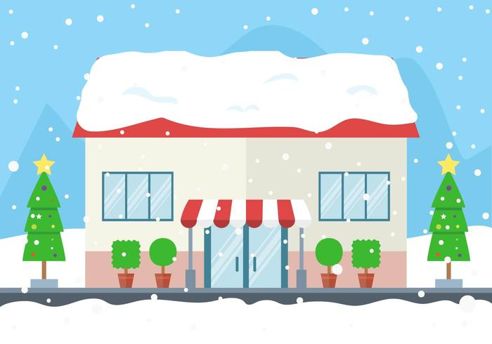 Free Vector Winter Store