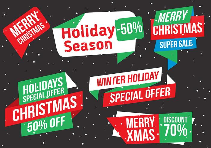 Free Vector Christmas Labels