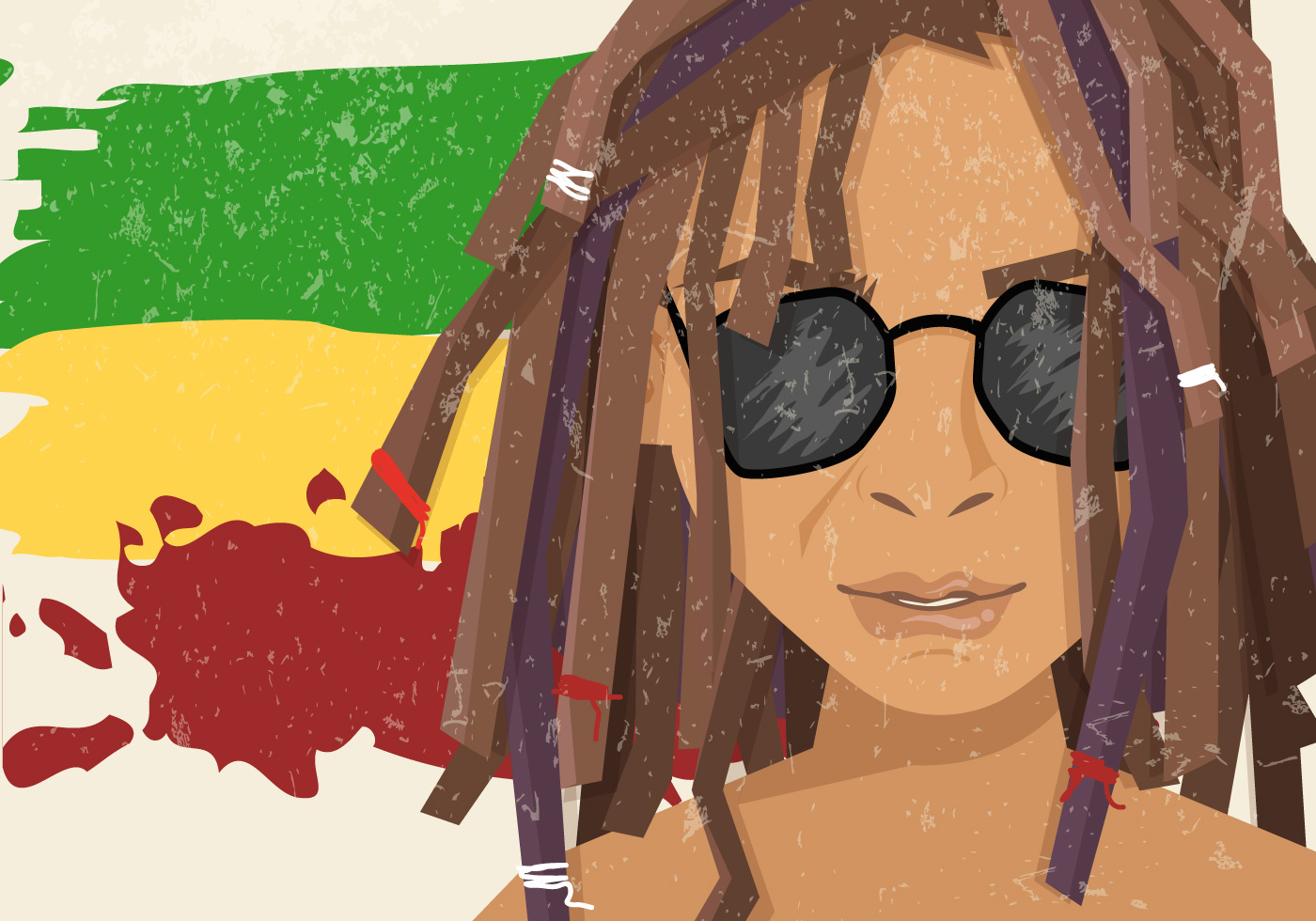 Dreads Regae Wearing Sunglasses - Download Free Vector Art ...