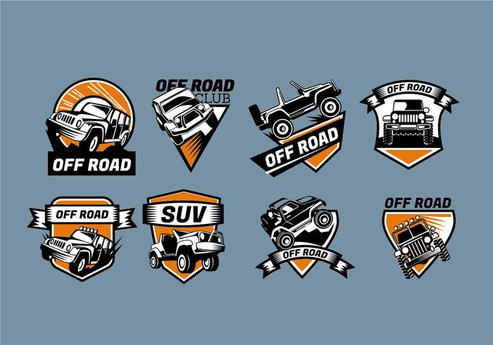 Logo Vector Teken Jeep Badges
