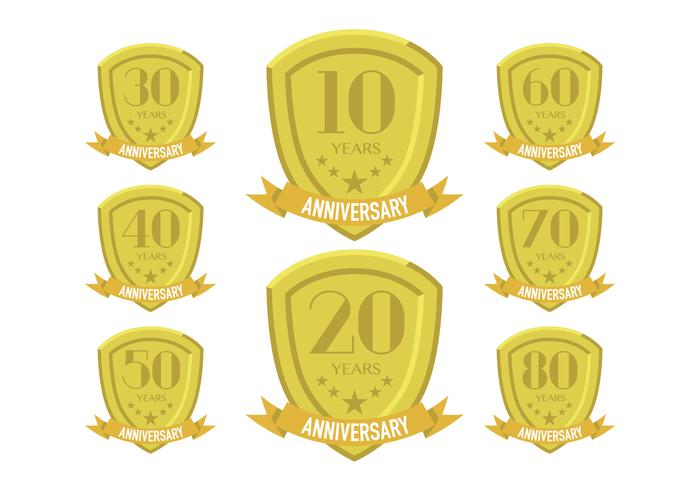 Gold anniversary patches
