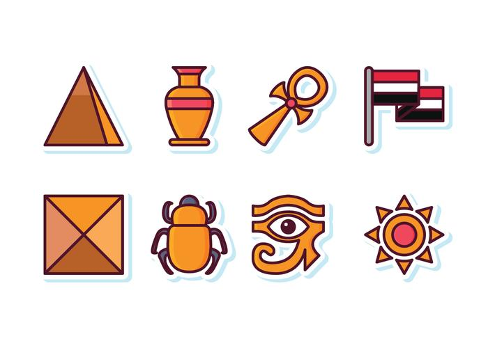 Conjunto livre de ícones de Egito