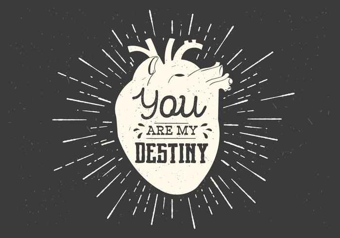 Heart Destiny Vector Typography