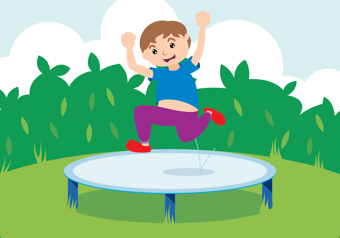 Jump With Trampoline Download Free Vector Art Stock