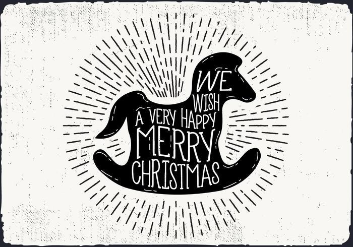 Free Christmas Greeting Card Vector