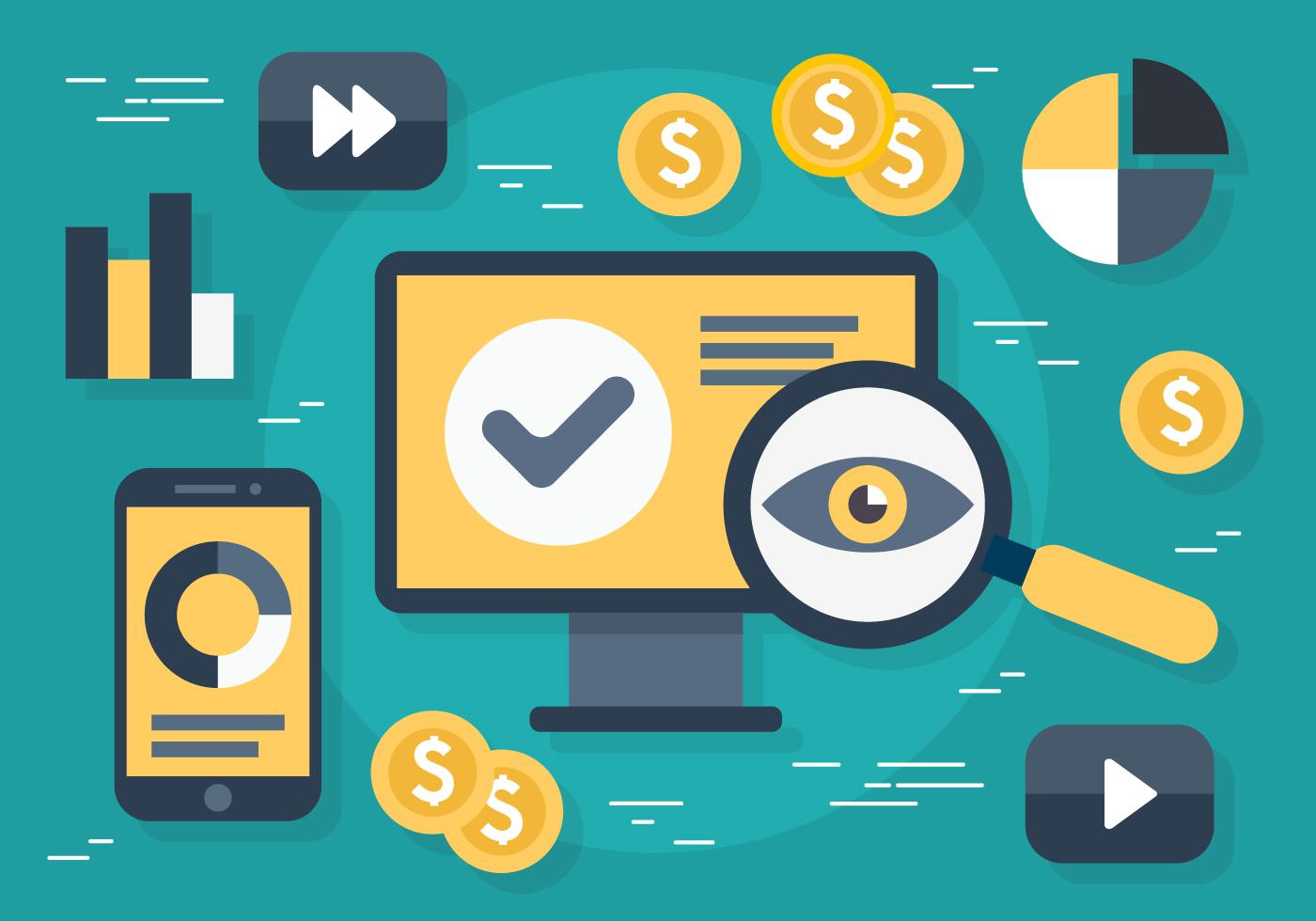 Free Flat Digital Marketing Vector Illustration - Download ...