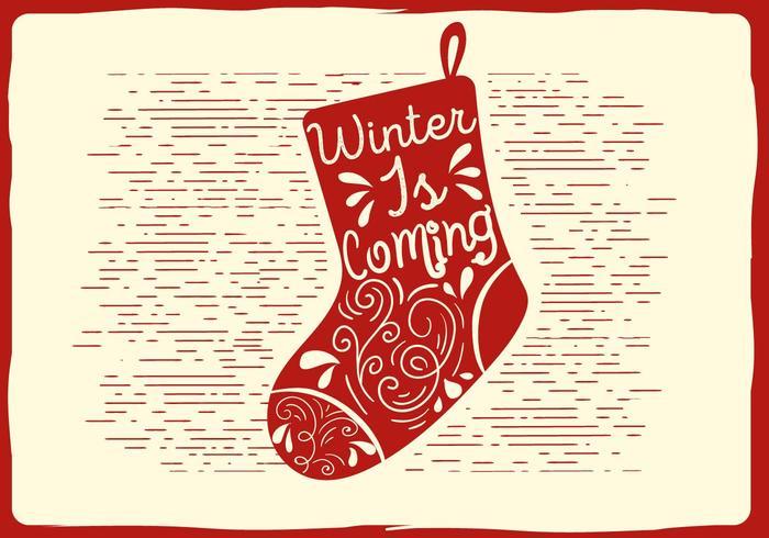 Free Christmas Vector Socks Illustration