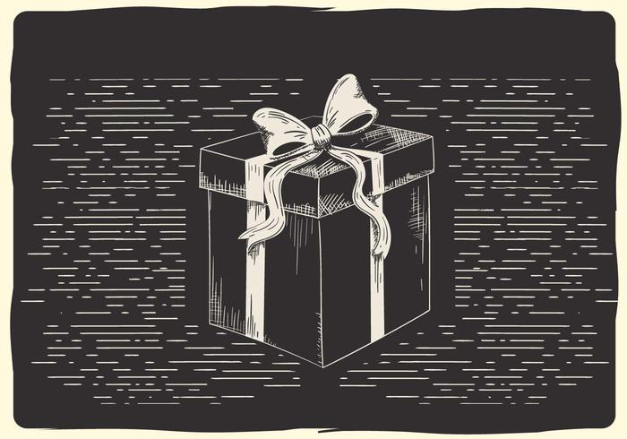 Ilustración libre de la caja del vector de la Navidad