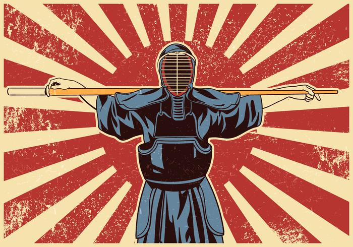 Kendo svärd kampsport fighters