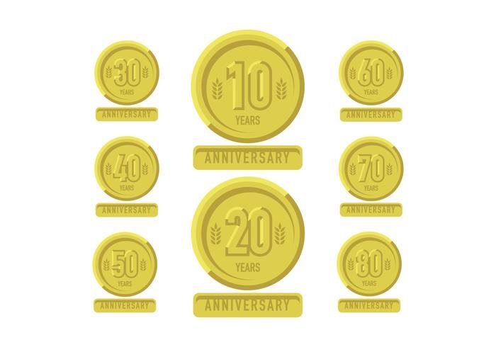 Jubiläums-Gold-Patch mit Bändern