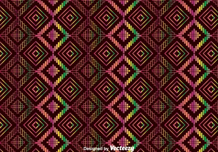 Colorful Ethnic Huichol Ornament Pattern
