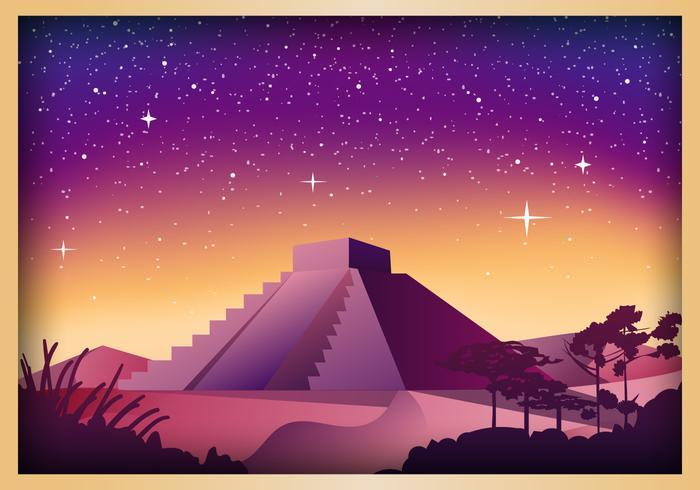 Piramide Scene Illustration