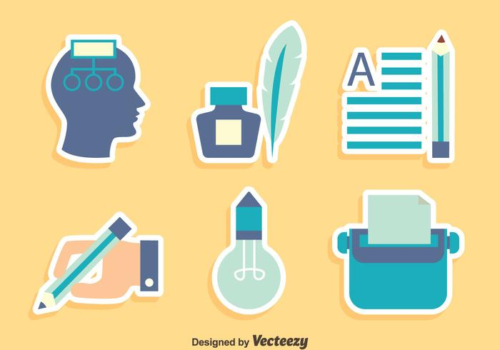Story Telling Element Icons Vector