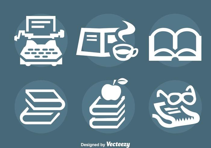 Story Telling And Book Icons Vector