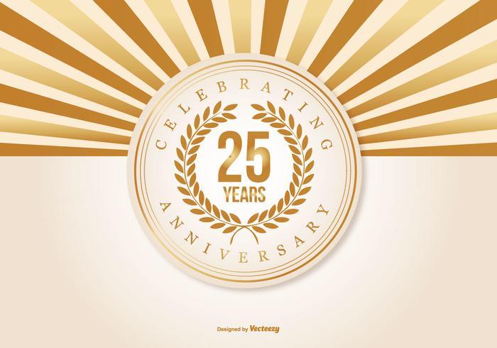 Beautiful 25 Year Anniversary Illustration