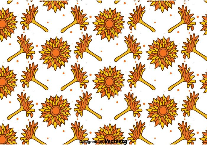Hand Drawn Calendula Seamless Pattern
