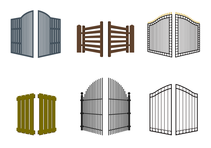 free open gate vector download free vector art stock graphics