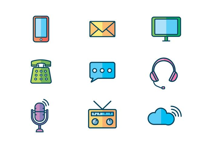 Free Communication Device Vector