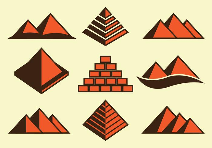 Piramide Icons vector