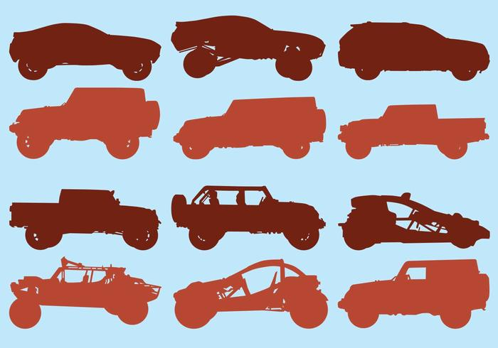 Icon Set Of Off Road Car