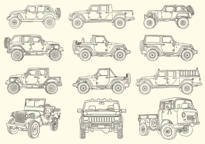Handdragen Jeep Collection