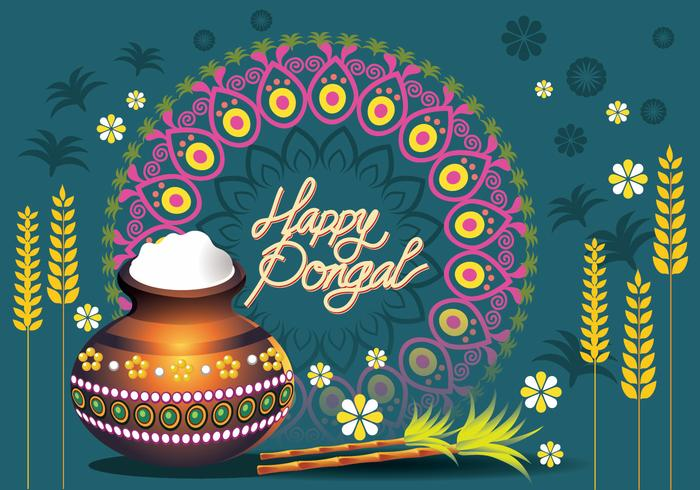 Vector illustration of happy pongal greeting card download free vector illustration of happy pongal greeting card m4hsunfo