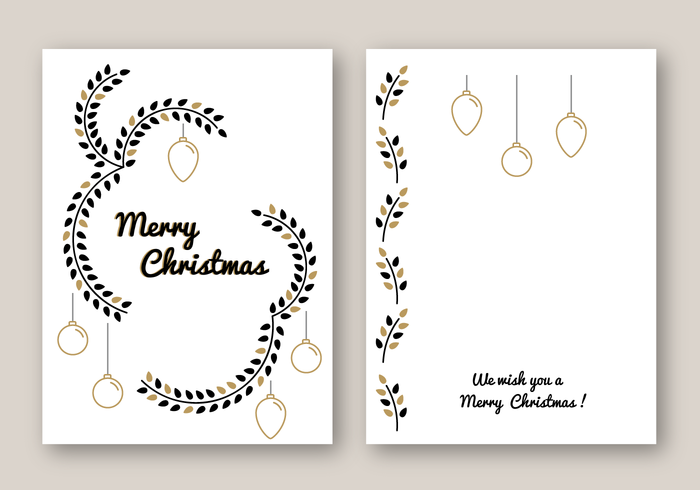 Free Merry Christmas Card Vector