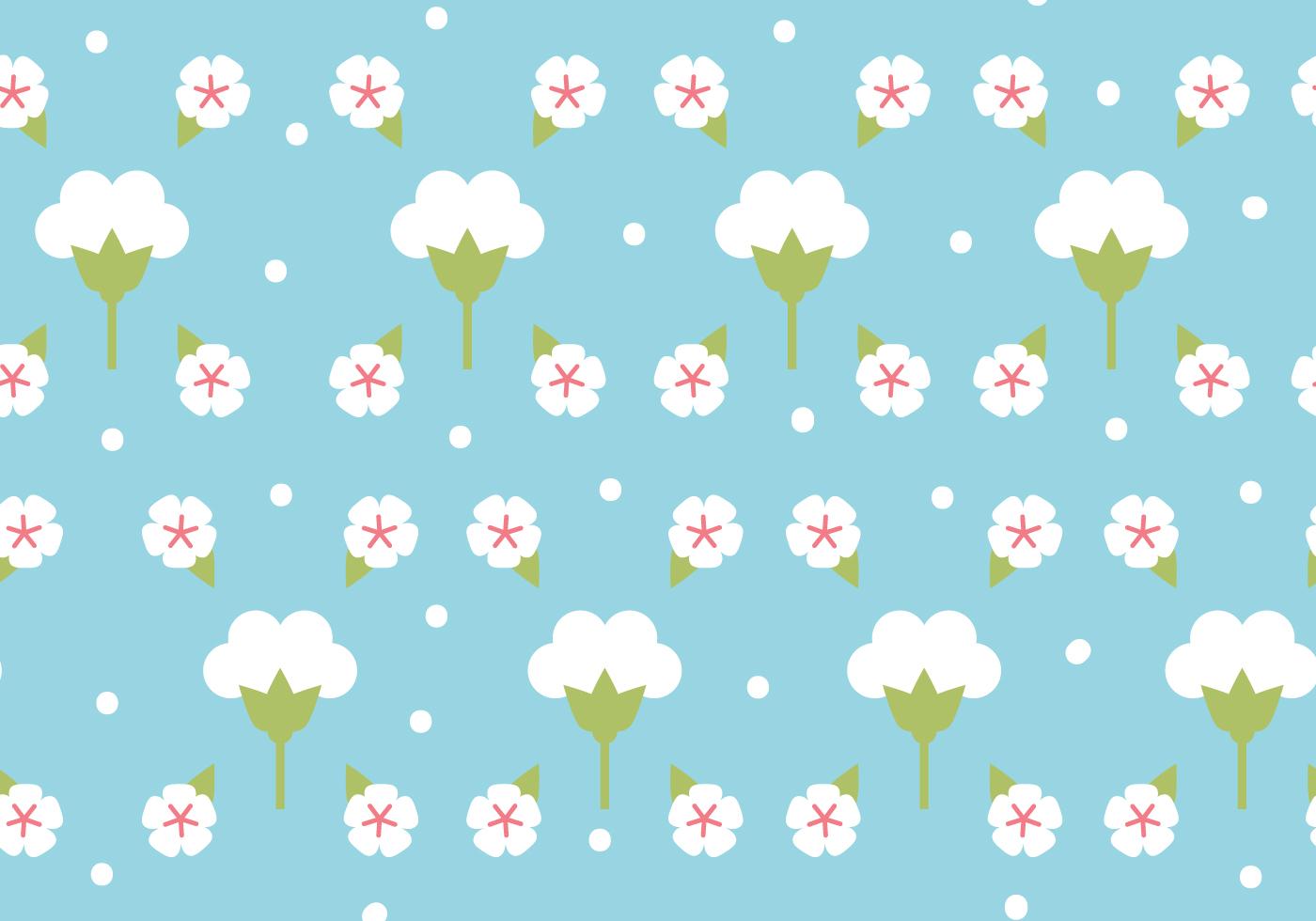 flat design cotton flower pattern