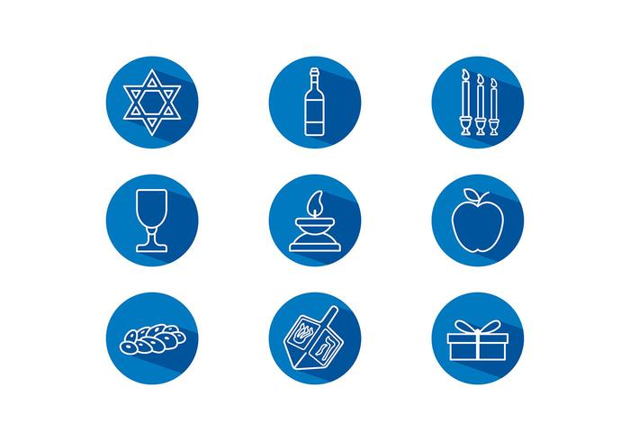 Shabbat Icon Free Vector
