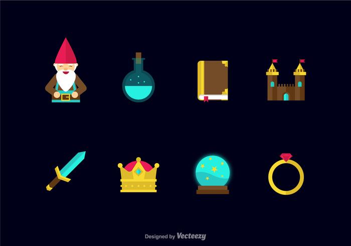 Free Flat Fairy Tale Vector Icons