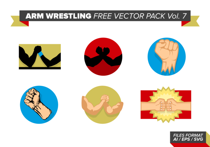 Arm Wrestling Free Vector Pack Vol. 7