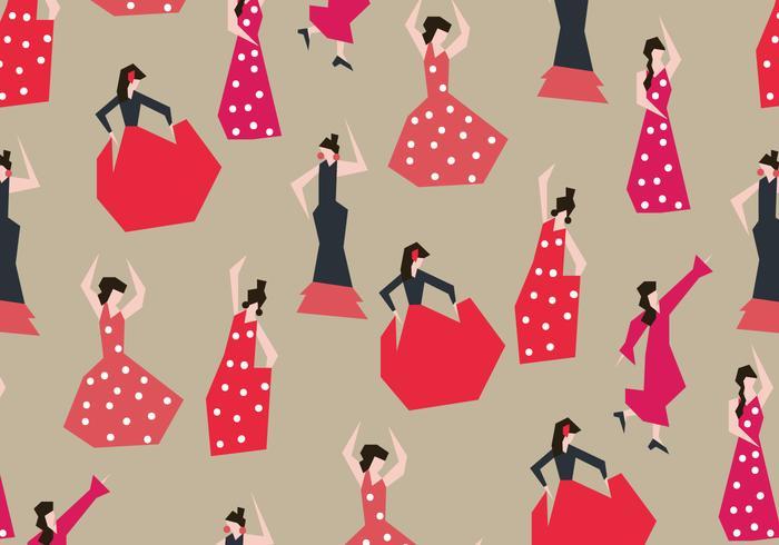 Flamencas Dancer Vector