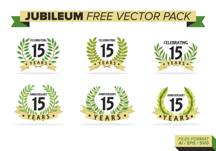 Jubileum Free Vector Pack