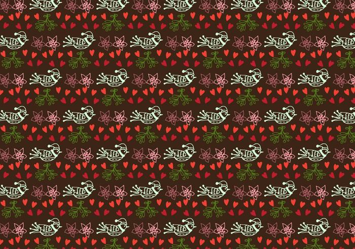 Hand drawn cute pattern Free Vector