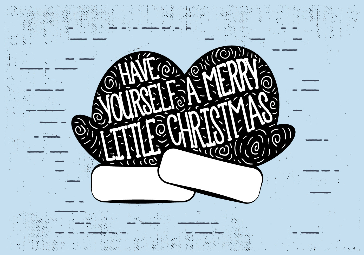 Free Vintage Hand Drawn Christmas Card Background - Download Free ...