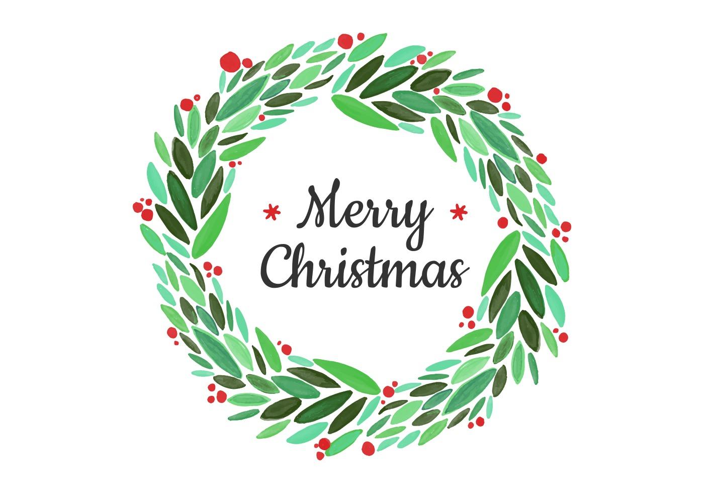 Christmas wreath thin. Free vector art downloads