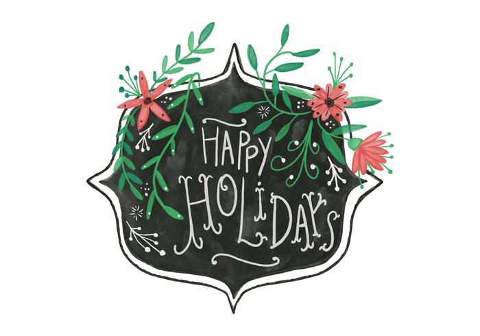 Watercolor Holidays Background