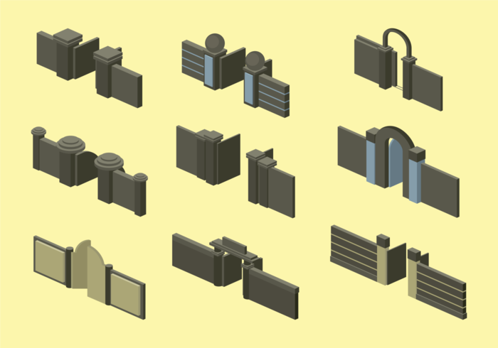 Open Gate Isometric