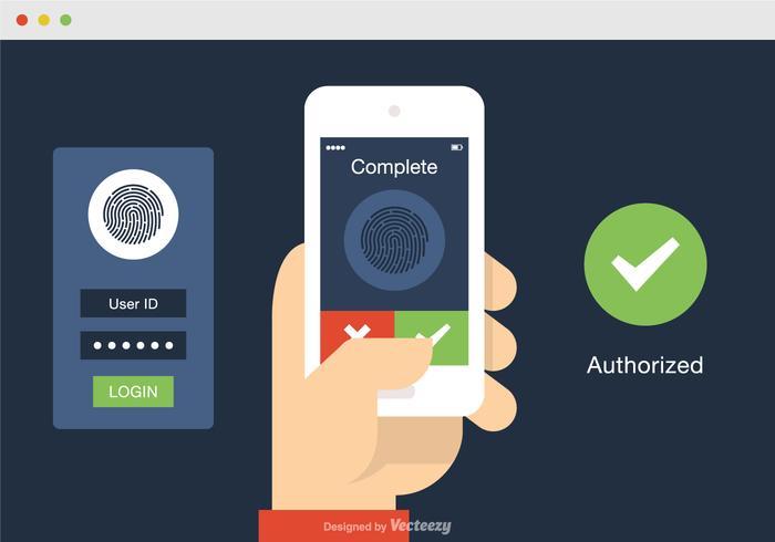 Free Vector Online Identification Illustration