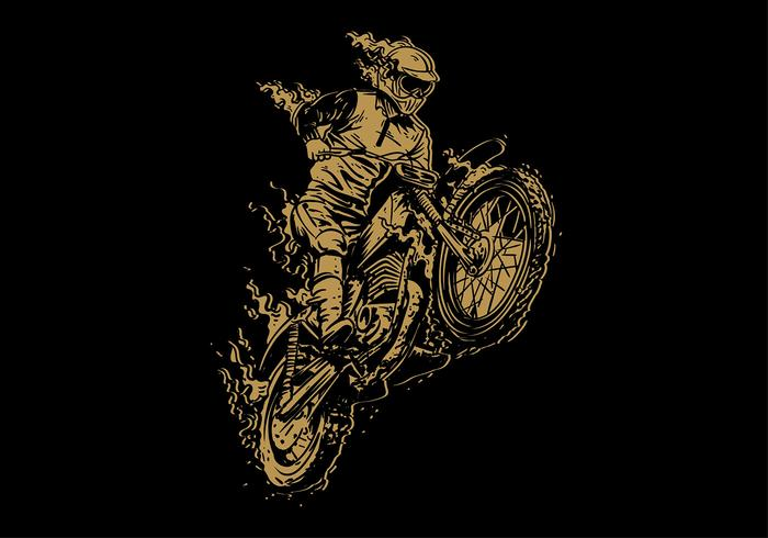Dirt Bike Vintage Free Vector
